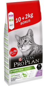 Pro Plan Cat Sterilised Optirenal Karma z indykiem dla kota 10kg+2kg GRATIS